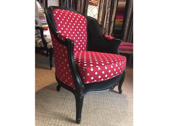 tapissier décorateur nantes 44 fauteuil louis XV