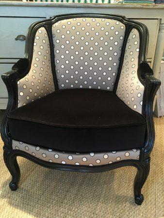 Tapissier décorateur Nantes fauteuil bergère louis XV