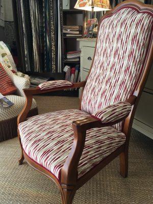 tapissier décorateur nantes 44 fauteuil voltaire